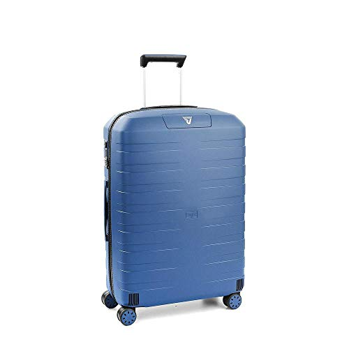 Roncato Box 2.0 Trolley Medio - 4 Ruote, 69 Cm, 80 Litri, Navy