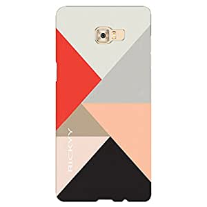 RICKYY Triangle Vintage design printed matte finish back case cover for Samsung Galaxy C7 Pro