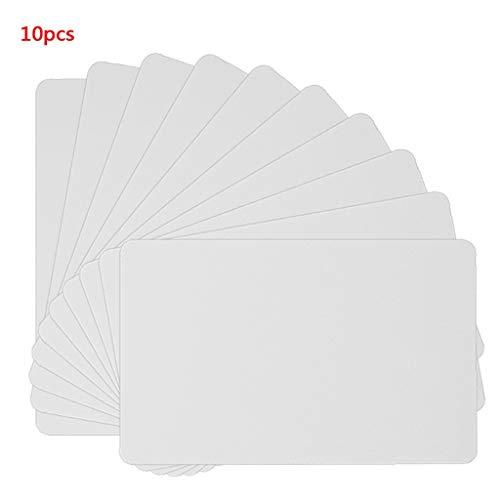 zhiwenCZW 10 STÜCKE NFC NTAG215 Weiße Karte Für TagMo Tags Chip Aufkleber Tag Label Forum Type2 Aufkleber für NFC-fähige Geräte