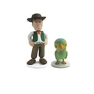La Granja de Zenón- Pack 2 Figuras Zenón y Lorito Pepe (Bandai LU82002)