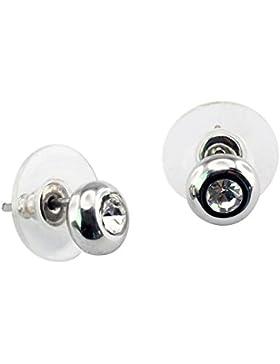 Elegante klassische Solitaire Magnet Ohrstecker Energetix 4you 461P Original Swarovski® Element White Diamond...