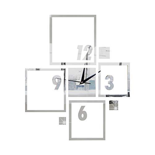 only storerine furnitureanddecor ErschwinglichModerne große Wanduhr 3D Spiegel Aufkleber einzigartige Anzahl Uhr DIY Dekor