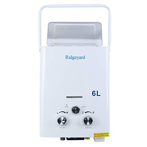 Iglobalbuy Calentador agua gas atmosférico sin tanque