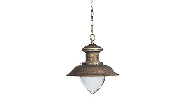 Plafoniere Ottone Stile Nautico : Lanterna lampada a sospensione in ottone brunito stile nautico