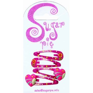 Sugar Pie S01C069 - Pinzas para el Pelo con diseño de Flores y Corazones