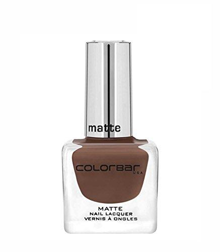 Colorbar CMN005 Matte Nail Lacquer, Brown, 12ml