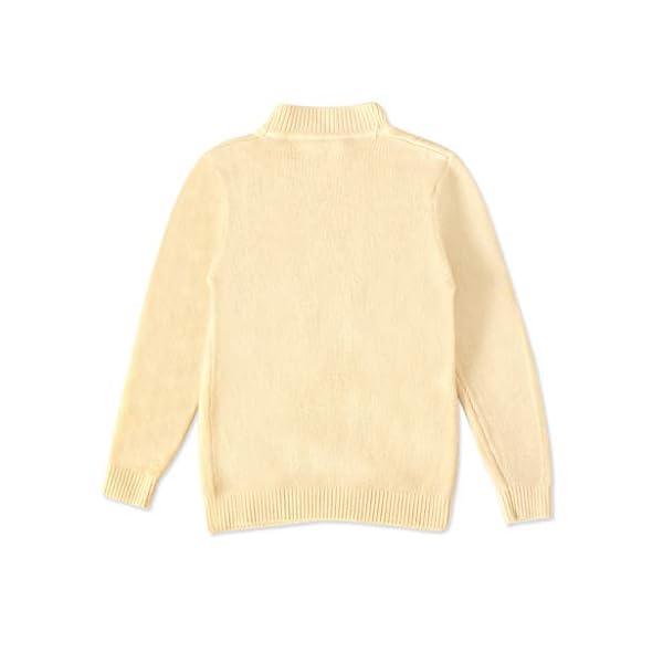 MEIbax Moda Casual Color sólido Baby Girl Suéter de Punto de Cuello bajo Niños Top de Manga Larga Suéter de Punto Niñas… 2