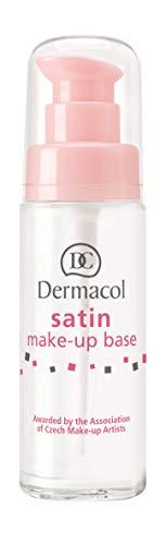 Dermacol Satin Make Up Basis für ein mattes, poren und faltenfreies Finish | Für glatte Beauty Blender und Pinsel | Passt in Tasche und Organizer | Hautpflege Produkt und Geschenk für Frauen | 30 ml