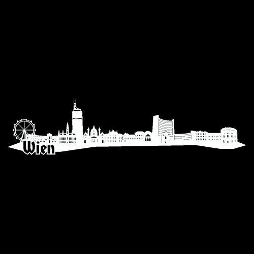 Wandtattoo Wien Skyline Wandaufkleber in 6 Größen und 19 Farben (230x52cm weiß)