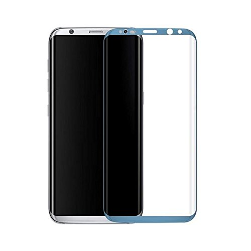 GIANTARMOUR GIANT ARMOUR Premium blue Coloured Tempered Glass for Samsung Galaxy S8PLUS blue full Coverage including Curved Edges,Correct Sensor and Camera Cut outs