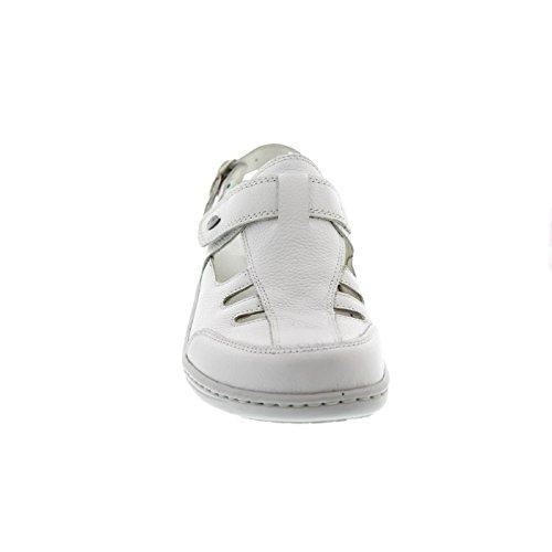 Pigalle Woodruff H Zoccolo Bianco Velcro 150 408704 Heria Bianco pelle Lungo Liscia 172 qrEwaAr