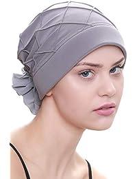 Turban f/ür Haarverlust Deresina Diamant-Muster Mutze Krebs Chemo