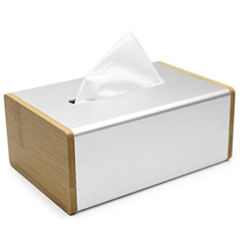 Nuipo Metall Rechteck Gesichts Tissue Box Halter Gewebe Flache Serviette Organizer für Bad Waschtischplatten Schreibtisch Aufbewahrungsbox Container für Home Car Office