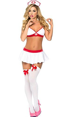 Kostüme Adult Nacht Krankenschwester (High Dose Krankenschwester-Wäsche-Kostüm)