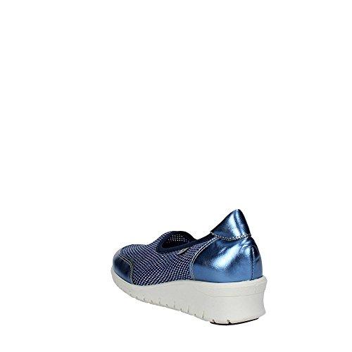 Cinzia Soft 9827 Sneakers Femme Cuir/nylon Bleu