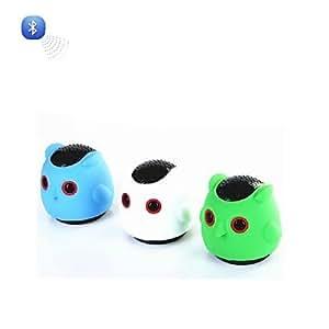 TYA-100 de hibou de modèle parleur sans fil Bluetooth MIC-Green/White/Blue