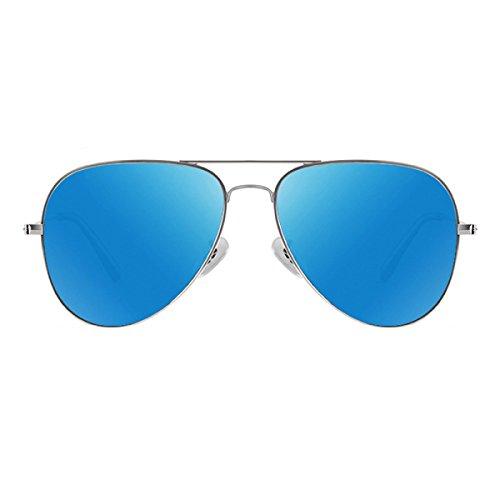 Colorful Metallic Retro Polarized Ladies Sunglasses Multicolor Optional