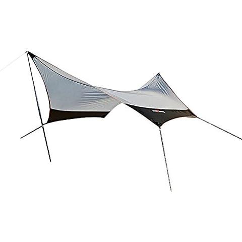 Auting Lona para Camping- Toldo Protector del Sol – Carpa Tarp Impermeable para Acampar, Compacta y Fuerte - 440 x 410 cm (3,4kg) - 4 a 7 Personas con Varillas Incluidas