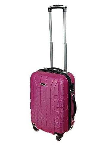 P-Collection Zwillingsrollen Koffer Trolley Handgepäck Reisekoffer Hartschalenkoffer M - L - XL-3er Set 5 Farben (M, pink)