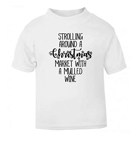 Flox Creative Baby T-Shirt Weihnachtsmarkt Glühwein schwarz Neugeborene Gr. 2-3 Jahre, weiß