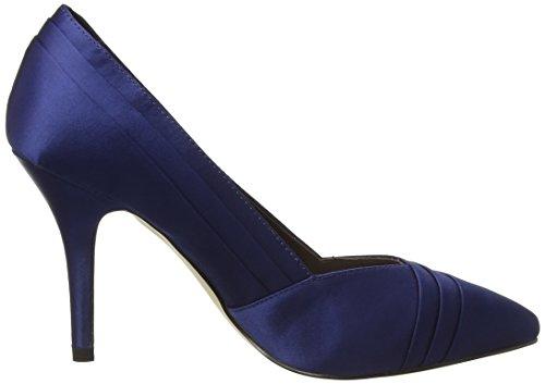Menbur Cortecillas, Chaussures à talons - Avant du pieds couvert femme Bleu - Blau (Midnight Blue)