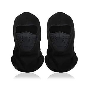 SATINIOR 2 Stücke Sturmhaube Gesichtsmaske Ski Winddichte Maske Motorrad Gesichtsmaske Sport Vollgesichts Kopfbedeckung für Angeln Outdoor Activity Lieferungen