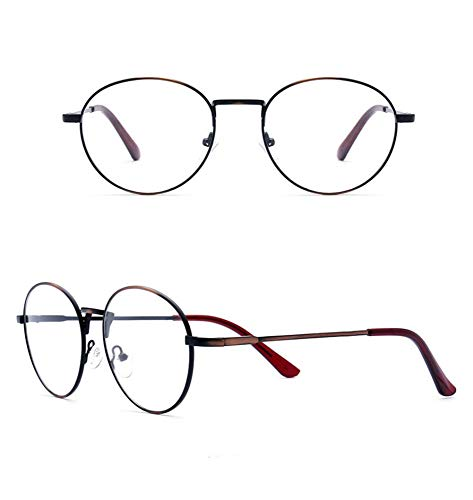 AdorabFrames Gläser Brillengestell quadratischer Rahmen Metall gebürstet Rahmen Trend Planspiegel Unisex gebürstetes Kupfer