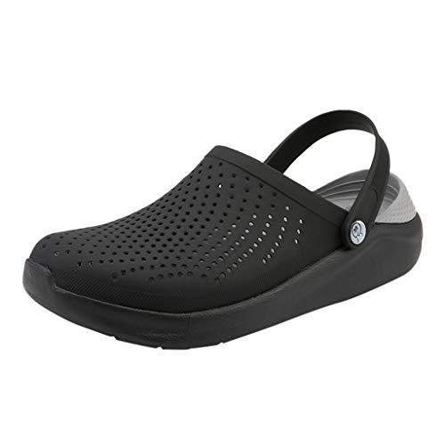 Sandali da uomo maglia traspirante scarpe buco scarpe da ciabatte infradito pantofole antiscivolo estate classico piatto scarpe all'aperto traspirante a piedi spiaggia sportsandali scarpe da buco