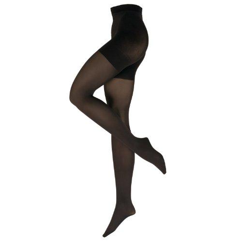Nur Die Damen Strumpfhose figurunterstützend 719170/Bauch-Bein-Po 60, Gr. 38/40 (38-40/S), schwarz (schwarz 094)