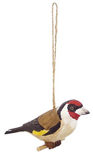 Générique Objeto de decoración, Elegante jilguero de Madera,, 13x 13x 5cm