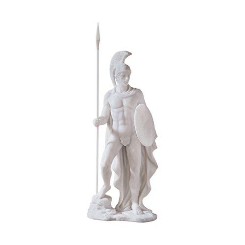 Design Toscano Ares, Klassische griechische Götterstatue aus Marmor-Kunstharz -