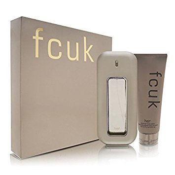 fcuk Her by French Connection UK for Women 2 Piece Set Includes: 3.4 oz Eau de Toilette Spray +...