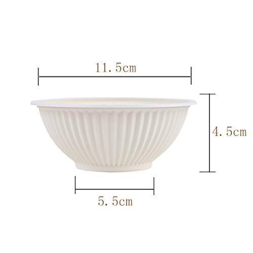 31qU6k%2BM3qL - YC-Einweg-Brotdose Haushalt Mahlzeit Eindickung Abbaubare Maisstärke Grüne Schüssel, Einweg-Grill Bowl (Größe : 100 Pack)
