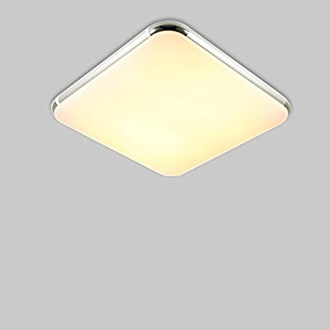 Natsen®Moderne LED Deckenlampe deckenleuchte Silber mit Fernbedienung voll dimmbar (I506F-24W-WJ)