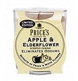 Los precios edición limitada olor eliminando Apple y aroma de saúco vela con soporte de cristal