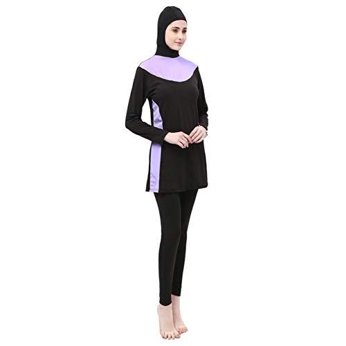 uirend Vêtements Femme Maillots de Bain - Tankinis Musulmane Couverture Complète Modeste Islamique Hijab Burkini Protection Solaire Beachwear
