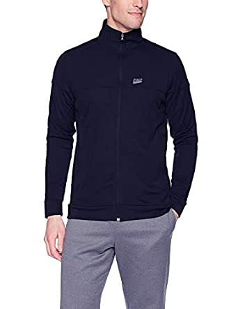 Finz Mens Jacket Full Sleeves with Reflector Brand Logo Blue