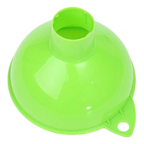 Uteruik Embudo de plástico para el hogar, Boca Ancha, Vino, Herramienta de llenado Grande, para enlatar Aceite líquido, Agua, Mermelada, hogar, Gasolina, hogar, Cocina, barware