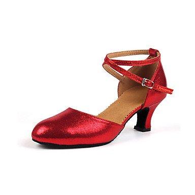 Wuyulunbi @ Femmes Glitter Sneaker Sneaker Intérieur Boucle Faible Talon Noir Or Argent Rouge Noi9.5-10 / Eu41 / Uk7.5-8 / Cn42