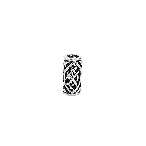 Nklaus 925plata de ley Joya para la barba o el cabello gótico celta de barba y cabello joyas perla Alanna 7140