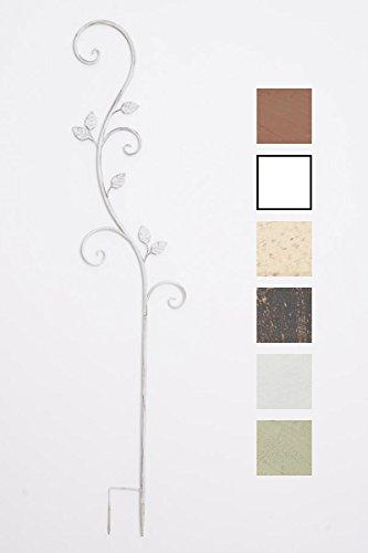 CLP Tuteur pour Plantes Grimpantes Arosa, Support pour Plantes Grimpantes en Fer, Hauteur du Support 125 cm, Couleur au Choix : Blanc Antique