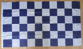 Carreaux Bleu marine/blanc Grand Drapeau 152 x 91 cm.