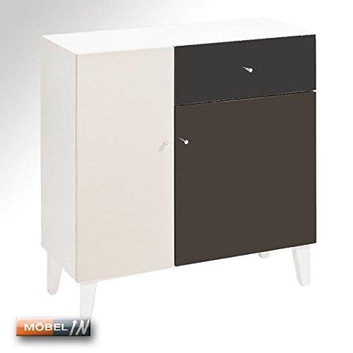 HMW-Möbel Elegance Kommode Glanz Sideboard Highboard Schrank Anrichte Braun Hochglanz NEU!