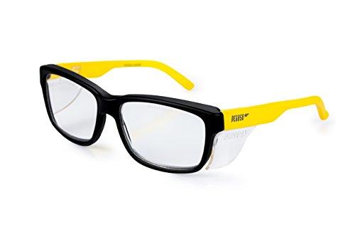 Gafas de trabajo contra impactó color amarillo