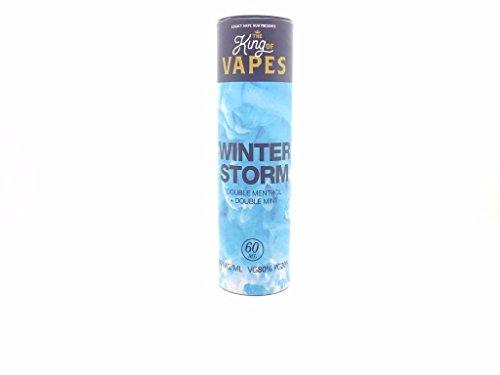 King Of Vapes: Winter Storm 0mg Menthol and Mint 60ml E-liquid Vape