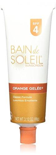 Bain de Soleil Orange Gelee Sunscreen, SPF 4, 3.12-Ounce Tube (Pack of 2) by Bain de Soleil BEAUTY (English Manual)