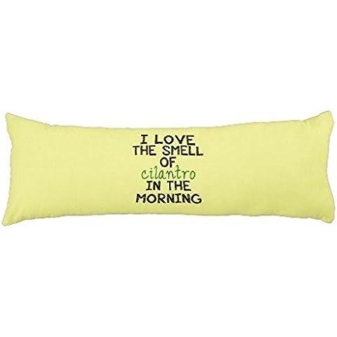 Funda de almohada para almohada de cuerpo entero I Love Cilantro fondo amarillo Cuerpo Funda de almohada para niña 20x