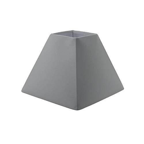 Générique Abat-Jour Forme Pyramide - 16 x 16 x h 13 cm - Polycoton - Blanc