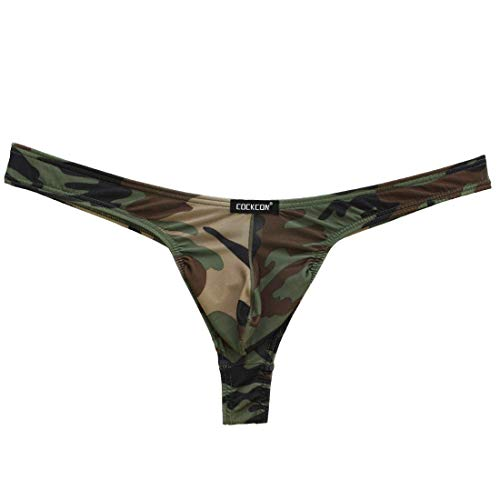9532f4cc7d6a0 Cockcon Herren Slip String Tanga mit Penis Pouch Camouflage Muster Gr. S-XL  Neu