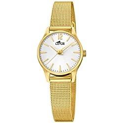 Lotus Watches Reloj Análogo clásico para Mujer de Cuarzo con Correa en Acero Inoxidable 18572/1